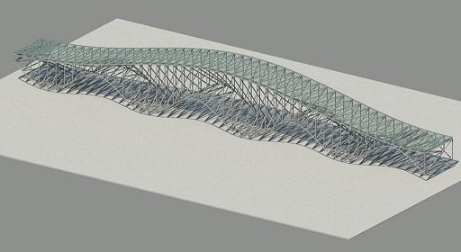 Adaptive Brücke aus Sinusfunktionen