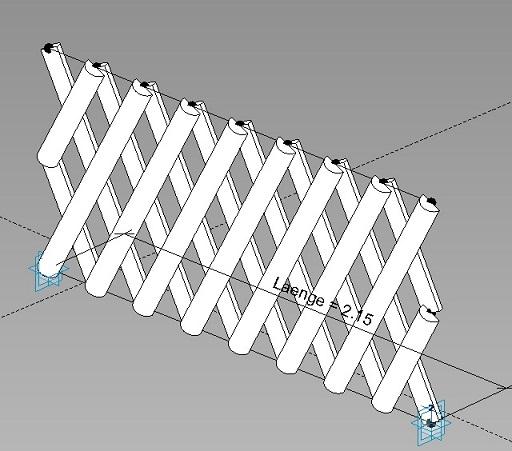 Zaun aus adaptiven Elementen